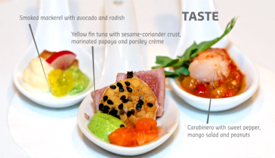 A dining experience for all five senses